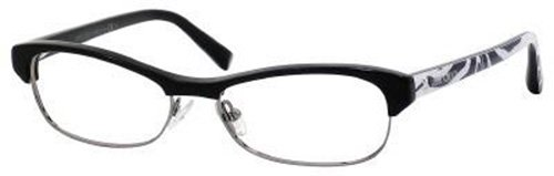 Jimmy Choo Jimmy Choo Eyeglasses JC 44 Black Ruthenium Zebra 52-15-135