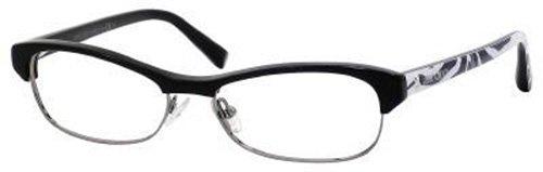 Jimmy ChooJimmy Choo Eyeglasses JC 44 Black Ruthenium Zebra 52-15-135