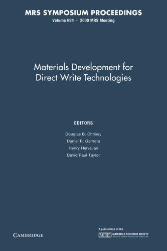 Materials Development For Direct Write Technologies: Volume 624 (Mrs Proceedings)