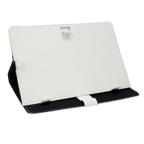 "M0449 Universal Leder Tablet PC Bookstyle Tasche Weiß für Samsung Galaxy Tab 4 10.1 LTE, Samsung Galaxy Tab 4 10.1 3G, lenovo A10-70 3G, Sony Xperia Z2 Tablet, Archos 101 Neon, Odys IEOS Quad 25,7, Lenovo Ideatab S6000-H, Medion Livetab E10316 MD98516, IconBit NetTab Thor, lenovo ideaTab A2109A, Coby Kyros MID1045, Point of View mobii PL1015, Point of View ProTab 3XXL, Touchlet 9.7"" X10, Sony Xperia Tablet S, Trekstor SurfTab ventos 9.7, Asus VivoTab Smart, Acer Iconia Tab W510, Samsung Galaxy T"