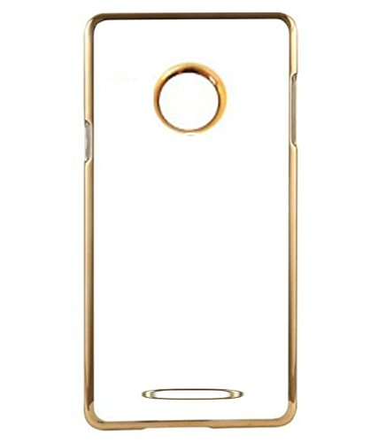 MuditMobi Stylish MeePhone Soft Silcon Back Cover For- Micromax YU Yunique YU4711- Transparent-Gold