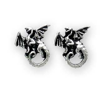 The Whitby Wyrm Stud Earrings (Pair)