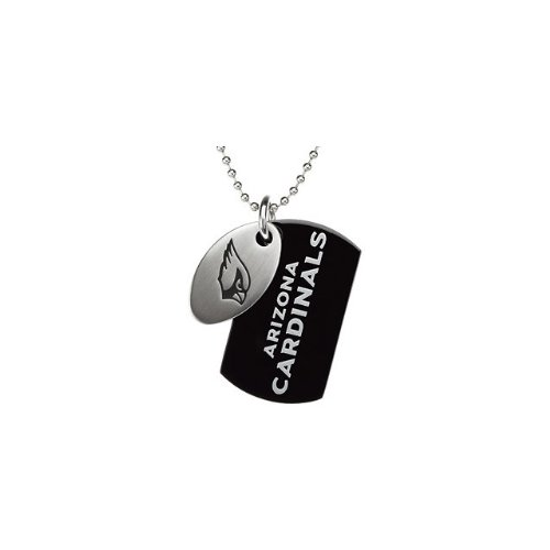 90 St Steel 45mm Arizona Cardinals NFL Football Team Jewelry Men 2 Dog Tag W/Chain