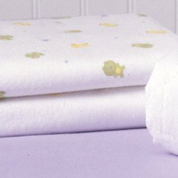 Carter's Keep-Me-Dry Flannel Crib Pad - Frog - 1