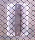 Chain link fence sign bracket, Height of Sign=18 inch tall sign