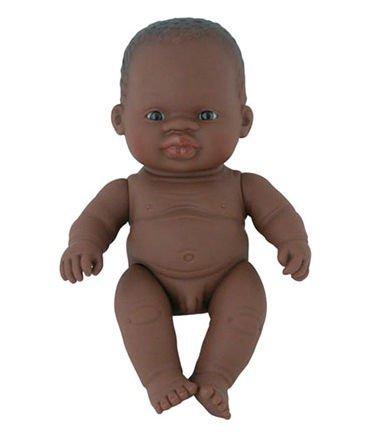 Miniland 8.25'' Anatomically Correct Newborn Baby Doll, African Boy front-854243
