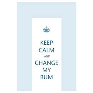 Blue 'Keep Calm and change my bum' changing mat de Dropship