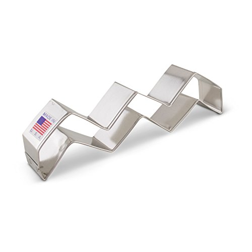 Ann Clark Chevron Pattern Cookie Cutter - 5 Inches - Tin Plated Steel (Fondant Chevron Cutter compare prices)