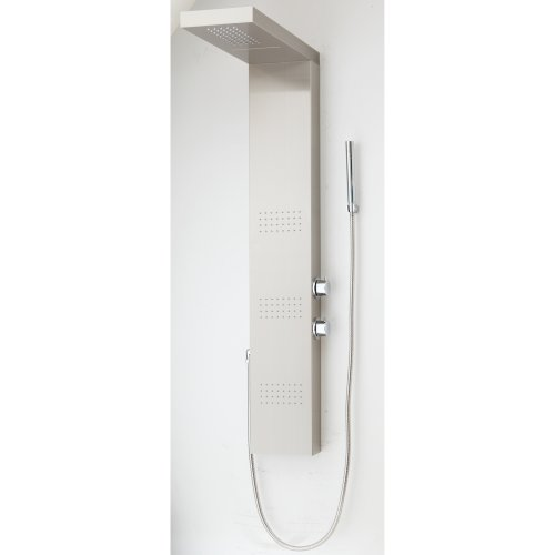 Why Choose Decor Star 005-SS Stainless Steel Fingerprint Resistance Rainfall Shower Panel Rain Massa...