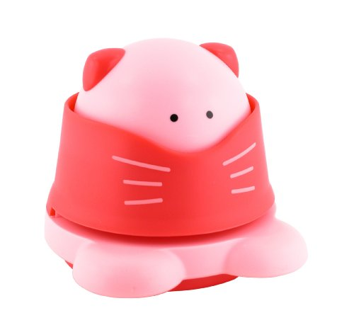 Made By Humans, Eco Staple Free Stapler Animal Shapes, Desktop Stapler, Cat, Pink (560)
