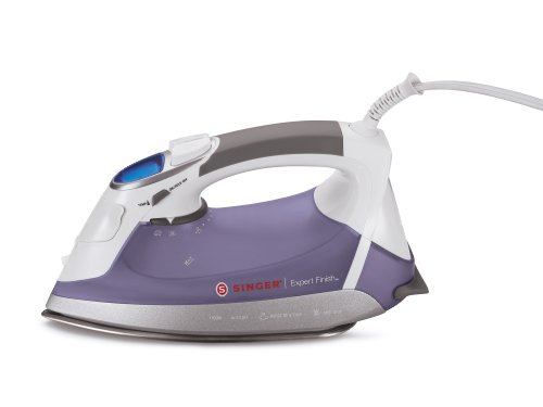 Singer Expert Finish 1700 Watt Anti-Drip Steam Iron With Brushed Stainless Steel Soleplate, Lcd Electronic Settings And Smart Auto-Off