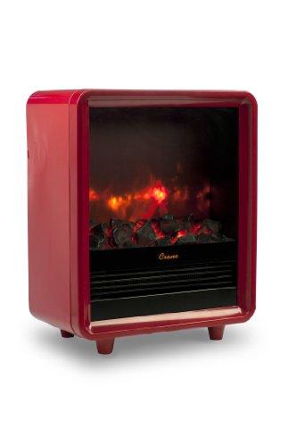 Crane Mini Fireplace Heater, Red