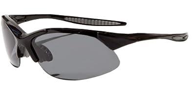 Polarized Sunglasses for Fishing, Cycling, Golf, Kayaking Superlight Tr90 Frame JMP44 (Black Smoke)
