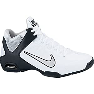 Nike Men's Air Visi Pro IV White/Mtllc Slvr/Blk/Pr Pltnm Basketball Shoes 10 ...