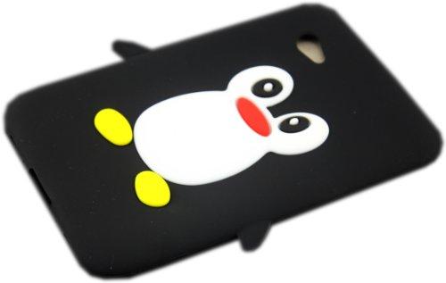 Samsung Galaxy Tab 2 P3100 P3110 P6200 Pinguin Schwarz Schutz-Hülle Silikon Case Schale Cover 3D thematys®