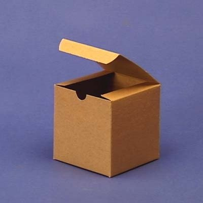 4in. X 4in. X 4in. Kraft Gift Boxes - pack of 10