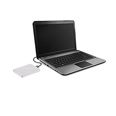 Seagate Backup Plus Slim 2TB USB 3.0 Portable Hard Drive - White