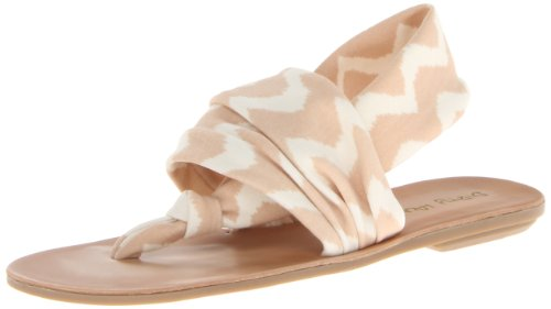 Dirty Laundry Women's Beebop Fabric Gladiator Sandal,Natural,6.5 M US