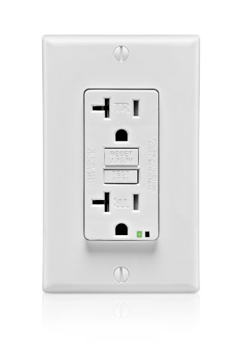 20 Amp, Self-Test GFCI, Wallplate Included, SmartLockPro, Back and Side Wired, Tamper Resistant
