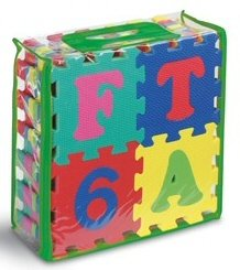 Cheap Kids Touch Numeral and Alphabet 6″ Puzzle Mats Features (B004I47QVU)