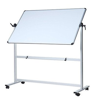 VIZ-PRO Double-Sided Magnetic Mobile Whiteboard, Aluminium Frame and Stand (Dry Erase Board With Wheels compare prices)