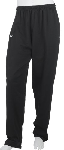 Russell Athletic Men's Performance Open Bottom Pant, Black, X-Large