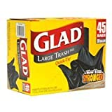 Glad Large Trash Bags, 30 Gallon 40 bags