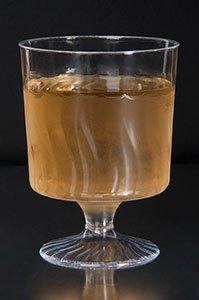 80 Count Disposable Wine Glasses 8 oz Plastic Clear Heavyweight 1-Piece Upscale by Flairware
