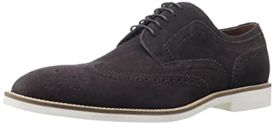 BOSS HUGO BOSS Men's Cortios Wingtip,Dark Brown,8 M US
