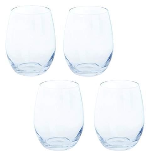 Dartington Crystal Blanc vin sans pied, transparent, lot de 4