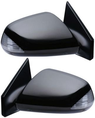 Kool Vue SET-SC11ER Mirror Set of 2 Corner mount Type Passenger & Driver Side RH LH Plastic Primered Power 5-hole 5-prong prong connector (06 Scion Tc Driver Side Mirror compare prices)