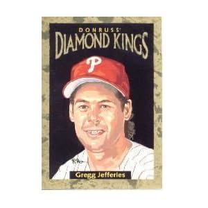 1996 Donruss Diamond Kings #17 Gregg Jefferies /10000