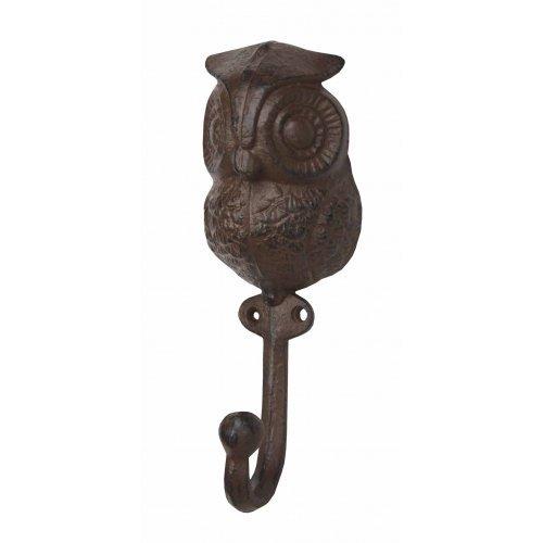 1 X Cast Iron Owl Decorative Wall Hook