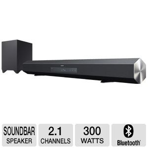 Sony 2.1 Channel 300 Watt Surround Sound Home Theater Speaker Bar With Wireless Subwoofer, S-Force Pro Front Surround Technology, Bluetooth Wireless Connectivity, Dolby Digital Pro Logic Ii And Dts Digital Surround, Optical & Coaxial Digital Audio Inputs,