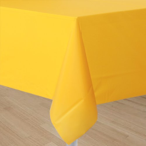 Sunflower Yellow Plastic Tablecover (1ct)