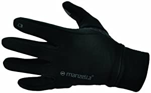 Buy Manzella Power Stretch Touch Tip Glove, Black, Large X-Large by Manzella