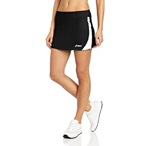 Asics Women's Love Skirt, Medium, Black/White