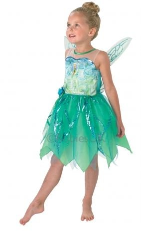 Fancy Dress - Disney Fairies - Pixie Tinker Bell Costume - CHILD LARGE