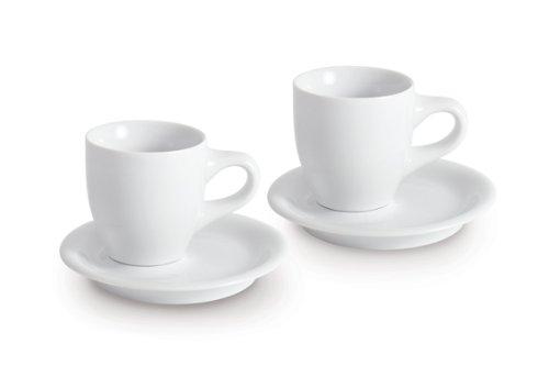 KAHLA Cafe Sommelier Espresso Doppio, White Color,  Set of 4 Pieces
