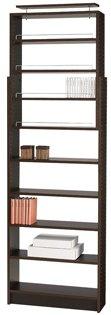 タカシン家具 プローバ つっぱり本棚 幅75cm 750 ダークブラウン PR-750-DB