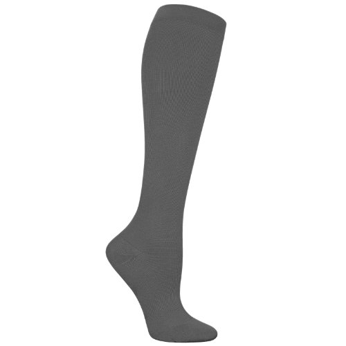 Dr Scholl's DSL7120 Women's 15-20 Hg Microfiber Compression Sock Black Medium