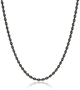 """Sterling Silver Twisted Herringbone Chain Necklace, 30"""""""