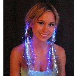 Glowbys Led Fiber Optic Light-Up Hair Barrette - White