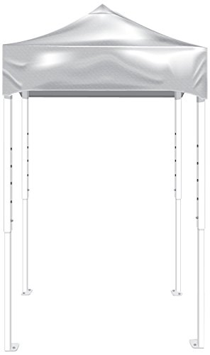 Kd Kanopy Ps25W Party Shade Steel Frame Indoor/Outdoor Portable Canopy, 5 By 5-Feet, White