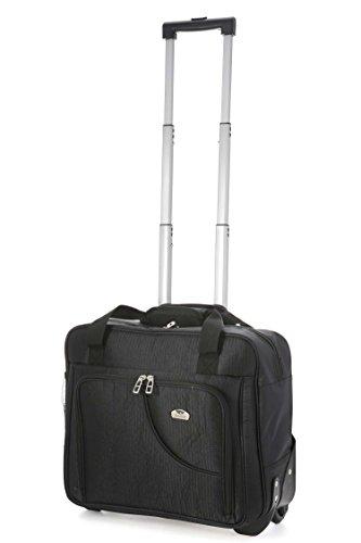 """Aerolite Cabina Laptop Sized Borsa Trolley , leggero e duro ruote Carry Computer portatile sul sacchetto di affari per Easyjet e Ryanair . (17 """" , Plum)"""
