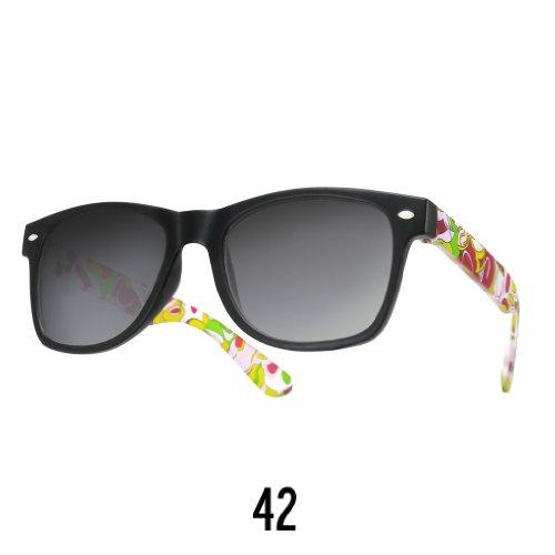 Sonnenbrille Nerdbrille retro Wayfarer Unisex Herren/Damen Sonnenbrille, UV-Schutz 400, Schildpatt Herren Sonnenbrille Spicoli 4 Shades, Tortoise Aussen, One size (42)