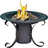 Bond 66034 Mendocino Steel Fire Pit With Lava Rock