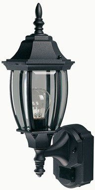 Buy Heath Zenith Six-Sided Die-Cast Aluminum Lantern, Black with Beveled Glass #SL-4192-BK