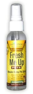 Cureceuticals Fresh Me Up Manuka Honey and Aloe Vera Pet Spray, Eucalyptus,2 Ounce