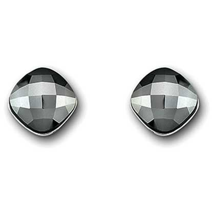 Swarovski Lea Jet Hematite Pierced Earrings